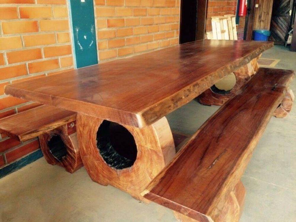 Mesa r stica p tora conjunto madeira ita ba maci a com for Mesas para bar rusticas